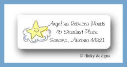 Angel baby boy return address labels personalized