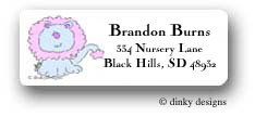 Blue lion return address labels personalized