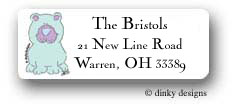 Blue bear return address labels personalized