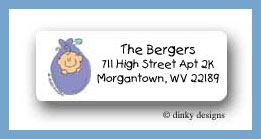 Baby bundle return address labels personalized