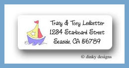 Nautical baby boy return address labels personalized