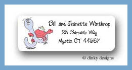 Nautical baby boy crab on anchor return address labels personalized