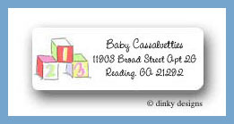 ABCs & 123s return address labels personalized