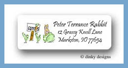 Gardening rabbit return address labels personalized