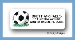 Soccer ball return address labels personalized