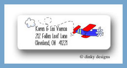 Planes, trains & automobiles return address labels personalized