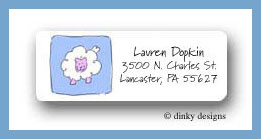 Baby blocks return address labels personalized