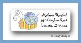 Buzzin bugs return address labels personalized