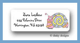 Buzzin' bugs snail return address labels personalized