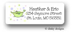 Peas in a pod twins girl/boy return address labels personalized