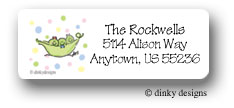 Peas in a pod triplets 2G/1B return address labels personalized