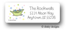 Peas in a pod triplets 2B/1G return address labels personalized