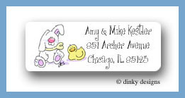 Shopping mall baby girl return address labels personalized