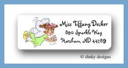 Fairy sweet sundae return address labels personalized