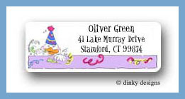 Magic party duck return address labels personalized