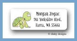 Magic party turtle return address labels personalized