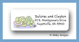 Noah's two by two turtles return address labels personalized