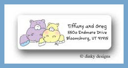 Noah's two by two hippos return address labels personalized