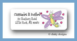 Yellow bellied firefly return address labels personalized
