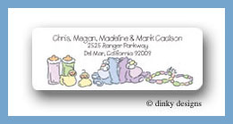 Carriage twins return address labels personalized