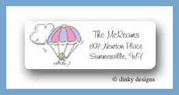 Girl baby paratrooper return address labels personalized