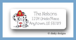 Firefighter Dalmatian return address labels personalized