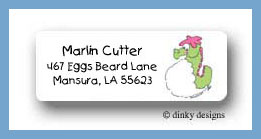 Under the sea seahorse return address labels personalized