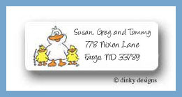 Barnyard pals duck family return address labels personalized