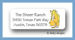 Barnyard pals horse return address labels personalized