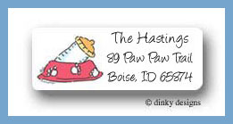 Dog gone baby return address labels personalized