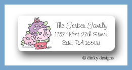 Hydrangea return address labels personalized
