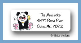 Panda baby return address labels personalized