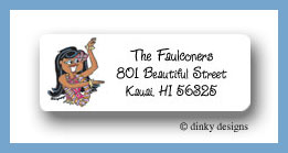 Teenie wahine return address labels personalized