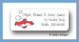 Baby bubble bath seal return address labels personalized