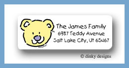 Baby makes three return address labels personalized