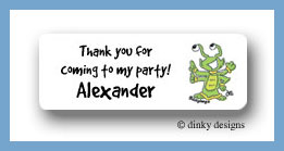 Astro-kid return address labels personalized
