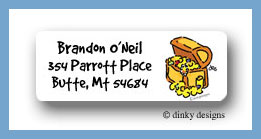 Pirates quest treasure chest return address labels personalized