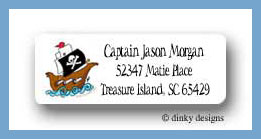 Pirate ship return address labels personalized