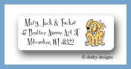 Pluto puppy return address labels personalized