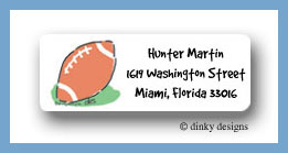 Football return address labels personalized
