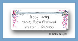 Baton return address labels personalized