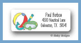 Pool kids snorkel return address labels personalized
