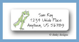 Log cabin leap frog return address labels personalized
