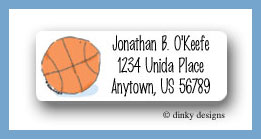 Basketball return address labels personalized