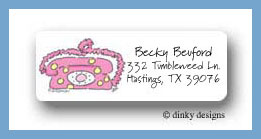 Teenie bopper pink phone return address labels personalized