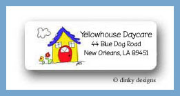 Colorful little house return adders labels personalized