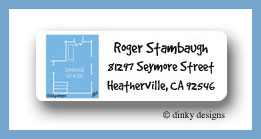 Blueprint new home return address labels personalized