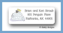 Variety of homes igloo return address labels personalized