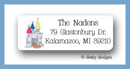 Variety of homes castle return address labels personalized