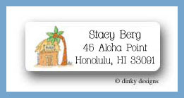 Variety of homes hut return address labels personalized